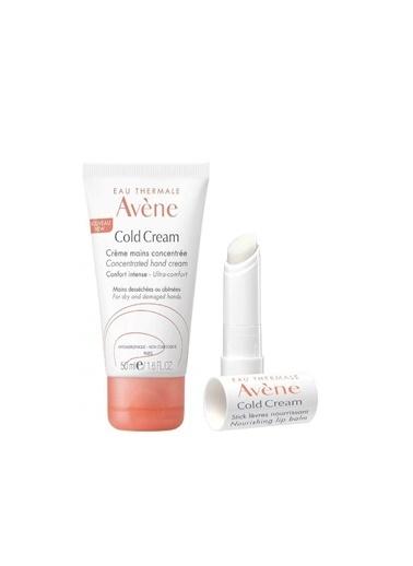 Avene AVENE Cold Cream içeren El ve Dudak Kremi Kofre Paketi Renksiz